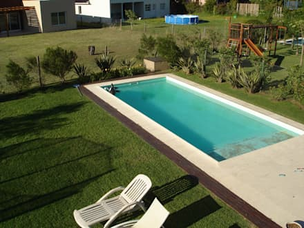 Jardín y pileta: Piletas de estilo rústico por Fainzilber Arqts.