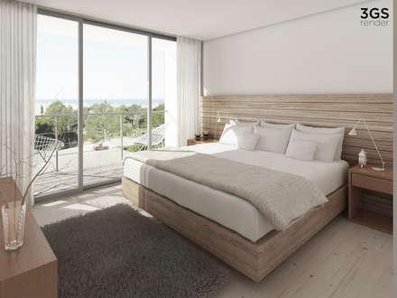 3GS Render: Dormitorios de estilo moderno por 3GS render