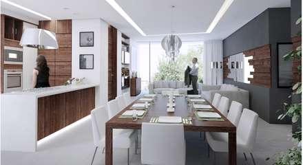 TREVINO CHABRAND Taller de Arquitectura: Comedores de estilo moderno por TREVINO.CHABRAND | Architectural Studio