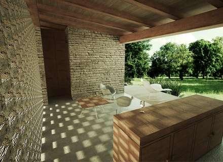 Cabaña: Terrazas de estilo  por GET ARQUITECTURA