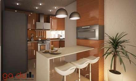 Proyecto J + L: Cocinas de estilo moderno por GarDu Arquitectos