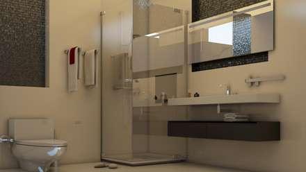 Proyecto J + L: Baños de estilo  por GarDu Arquitectos