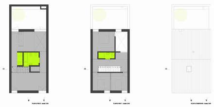 casa montefilipe: Escritórios e Espaços de trabalho  por Atelier Base