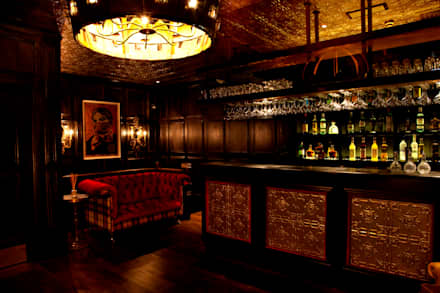 Ground Floor bar area:  Bars & clubs by Rebecca James Studio
