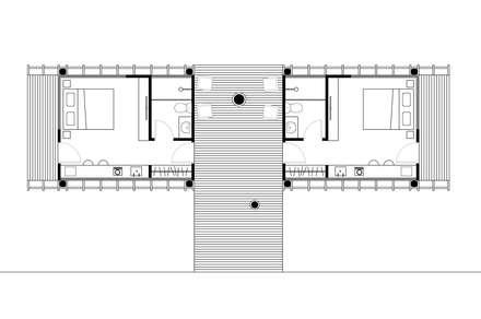 Casas de estilo  por Cabana Arquitetos