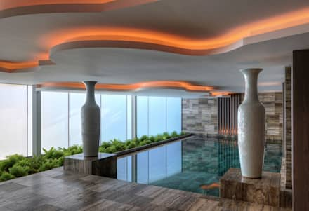 Timeless with a twist: Piscinas ecléticas por Viterbo Interior design