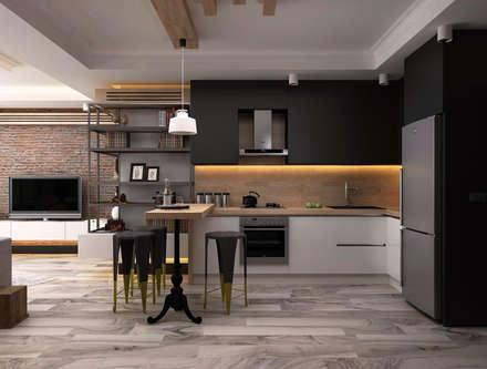 Ceren Torun Yiğit  – Stüdyo Daire Tasarımı: minimal tarz tarz Mutfak
