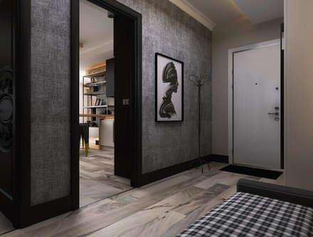 Ceren Torun Yiğit  – Stüdyo Daire Tasarımı: minimal tarz tarz Koridor, Hol & Merdivenler