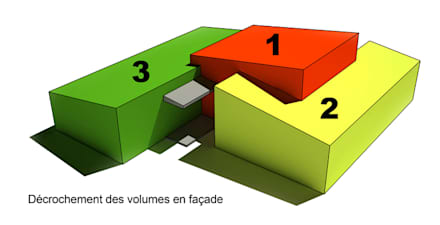 Construction d'une maison individuelle à Vern-sur-Seiche (35): Maisons de style de style Moderne par ATELIER POTENTIEL