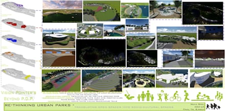Re-Thinking Urban Parks:  Exhibition centres by Neha Goel Architects