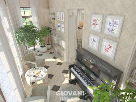 """Дом """"Contemporary"""". Эркер: Зимние сады в . Автор – Giovani Design Studio"""