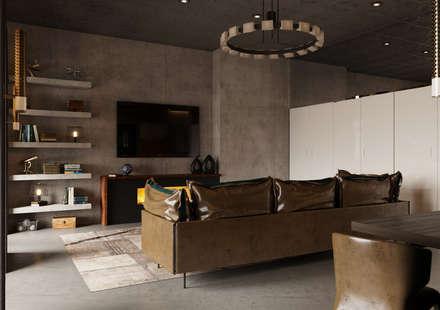 Loft Depre: Гостиная в . Автор – Anna Clark Interiors