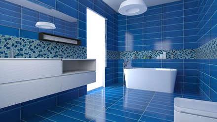 Bagno idee immagini e decorazione homify - Mobile bagno blu ...
