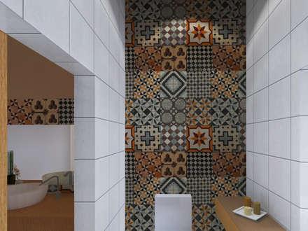 Baños de estilo rústico por LXL - Lisbon Lifestyle