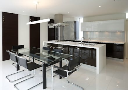 キッチン1: 林泰介建築研究所が手掛けたキッチンです。