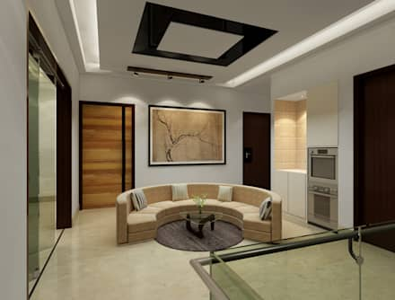 Suneja Residence: modern Living room by Space Interface