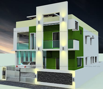 Residential Design & Development for Ms.Jannath Bee Mohammed Khan: modern  Houses by D