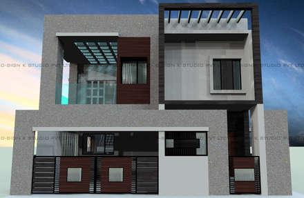 Residential Design & Development for Ms.Jannath Bee Mohammed Khan: modern Houses by D-SiGN KSTUDIO™ PVT LTD ARCHITECTS + INTERIORS + LANDSCAPING