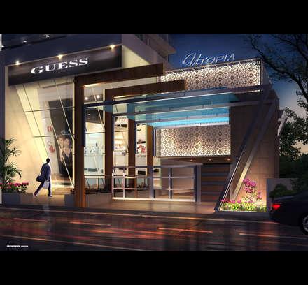 UTOPIA- ANCHOR SHOP: modern Houses by AIS Designs