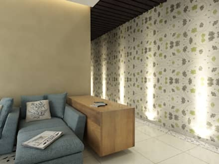 Singh Residence:  Walls by Space Interface