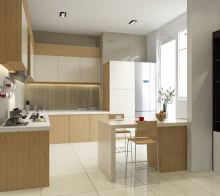 Singh Residence: modern Kitchen by Space Interface