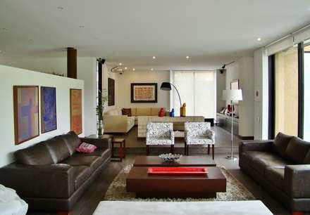 Casa del Portico: Salas de estilo moderno por David Macias Arquitectura & Urbanismo