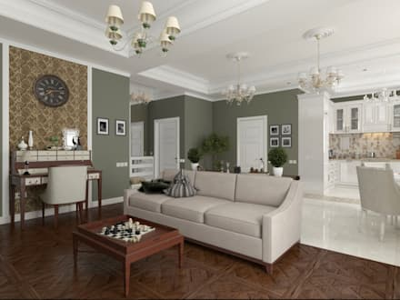 Private apartments in the south of Russia|Частная квартира на Юге России: classic Living room by Rosso