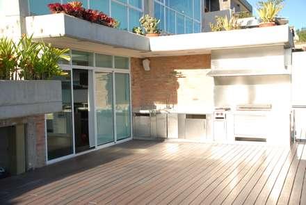 Casa el Hatillo: Terrazas de estilo  por Arquitecto Juan Pablo Fernandes