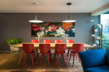 DEPARTAMENTO EN LAS LOMAS: Comedores de estilo ecléctico por MAAD arquitectura y diseño
