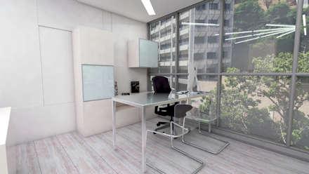 Oficinas GrupoFergo: Oficinas y Tiendas de estilo  por Arquitecto Juan Pablo Fernandes