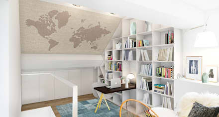 Lesbroussart: Bureau de style de style Scandinave par ZR-architects