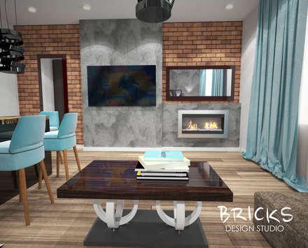Легкость лофта: Гостиная в . Автор – Bricks Design