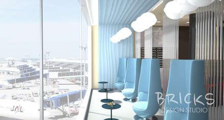 Зона отдыха в аэропорту: Аэропорты и морские порты в . Автор – Bricks Design