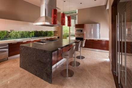 Casa del Arbol: Cocinas de estilo moderno por Pórtico