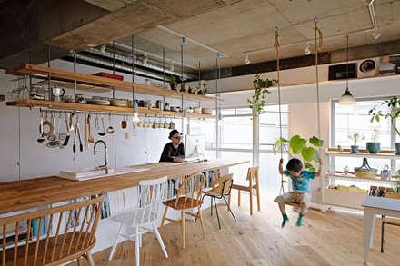 Cocinas de estilo industrial por .8 / TENHACHI