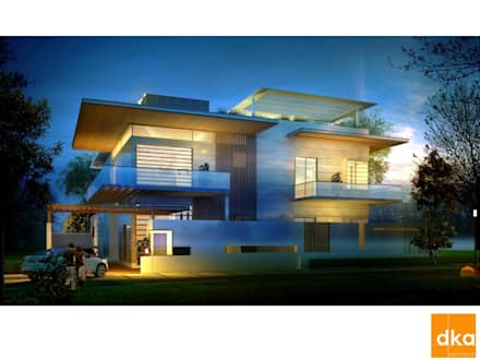 Poddar residence: modern Houses by Dutta Kannan architects