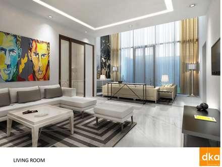 Poddar residence: modern Living room by Dutta Kannan architects