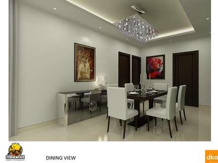 Kolte Patil Mirabillis apartment: modern Dining room by Dutta Kannan architects