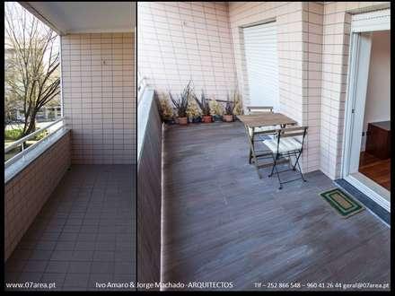 restauro de Apart. - Arqtos Ivo Amaro @ Jorge Machado: Jardins de Inverno minimalistas por AreA7