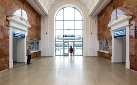 entrance hall interior:  Airports by VALENTIROV&PARTNERS