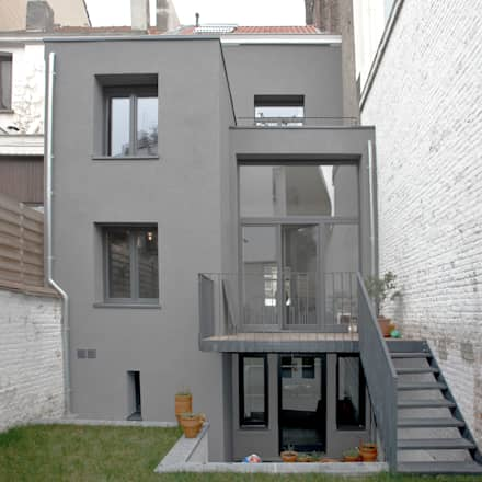 Rénovation maison rr maisons mitoyennes de style par planomatic