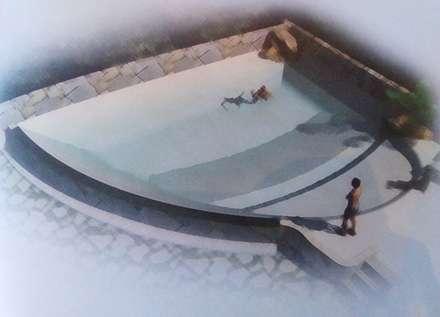 Piscina de arena Catálogo: Piscinas de estilo tropical de Piscinas de arena