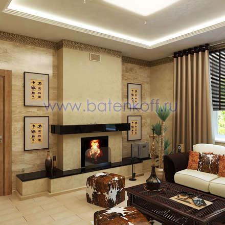 Дизайн проект каминной в частном особняке: Медиа комнаты в . Автор – Дизайн студия 'Дизайнер интерьера № 1'