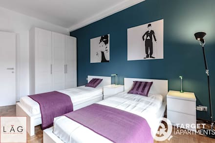 Camera da letto idee immagini e decorazione homify - Stencil testiera letto ...
