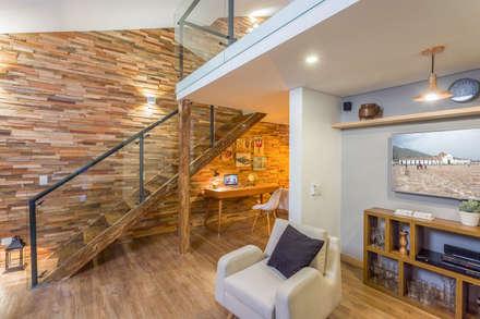 área social apto 301: Hoteles de estilo  por PLANTA BAJA ESTUDIO DE ARQUITECTURA