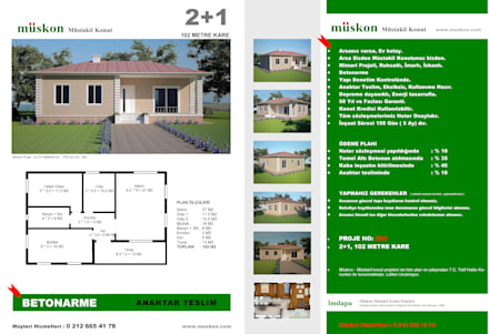 Müskon - Müstakil Konut Projeleri - Müstakil Konut (Fransızcası : Villa ): klasik tarz tarz Bahçe