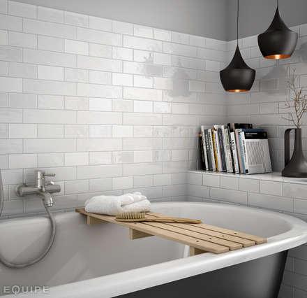 Cottage White, Matt: Baños de estilo moderno de Equipe Ceramicas