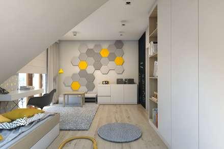 Projekt domu jednorodzinnego 7: styl , w kategorii Pokój dziecięcy zaprojektowany przez BAGUA Pracownia Architektury Wnętrz