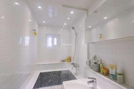 북유럽느낌 물씬 20평 빌라 인테리어: 홍예디자인의  화장실