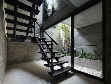 神宮前の家: 株式会社  小林恒建築研究所が手掛けた玄関・廊下・階段です。